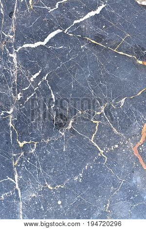 Marble texture. Black and blue stone background.
