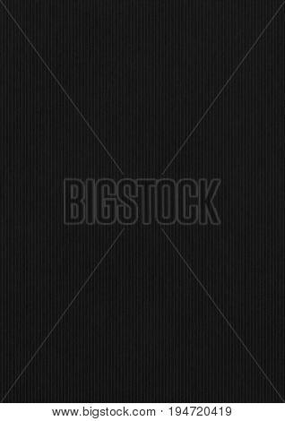 Ridged Black Paper Corrugated Texture Background.