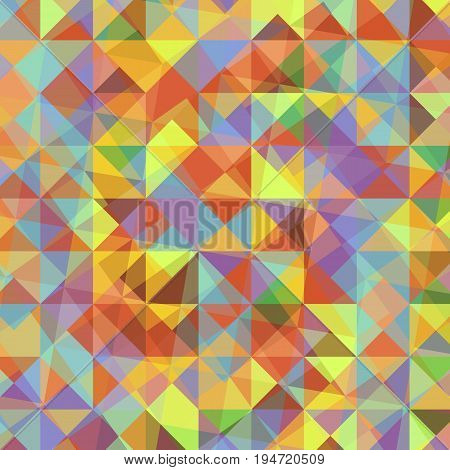 Abstract background with colorful triangles, stock vector