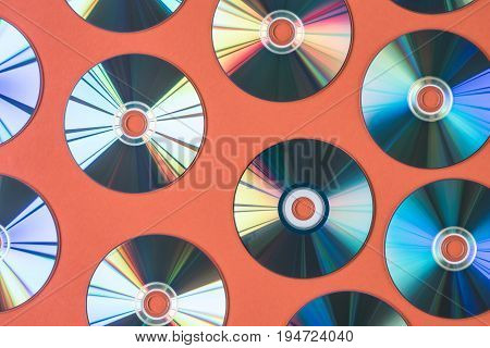 Background of CD for audio and video data recording.