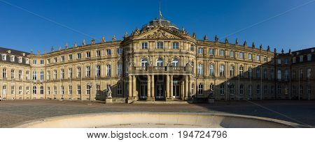 Das Neues Schloss (New Castle). Palace of the 17th century in baroque style. Stuttgart. Germany