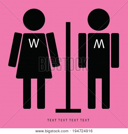 wc restroom symbols, vector idea, Man gird.