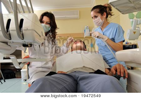 Visit at the dentist - a series of dentist related images.