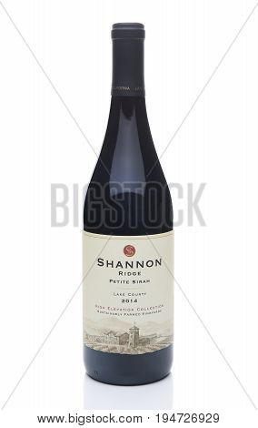 IRVINE CALIFORNIA - JULY 10 2017: Shannon Ridge Petite Sirah. The Shannon Ridge Winery is located in the Lake County region of Northern California.