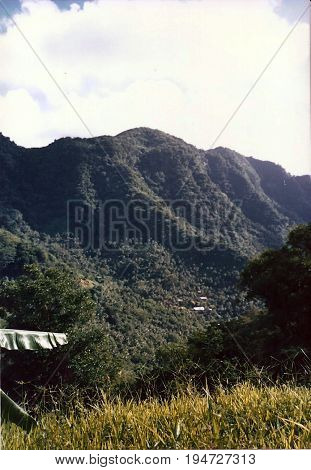A view of Upolu Island, Samoa, from the top of Mount Vaea, on Robert Louis Stevenson's Vailima Estate, near Apia.