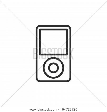 Sound woofer line icon outline vector sign linear style pictogram isolated on white. Symbol logo illustration. Editable stroke