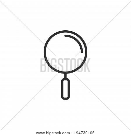 Search find line icon outline vector sign linear style pictogram isolated on white. Magnifier loupe symbol logo illustration. Editable stroke