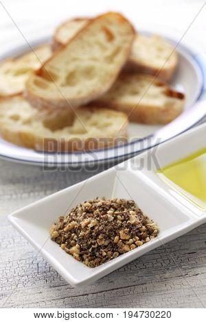 homemade dukkah, egyptian condiment