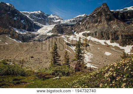 Stanley Glacier in Yoho National Park, Alberta, Canada