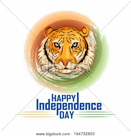 vector illustration of Indian tricolor background for 15th August Happy Independence Day of India