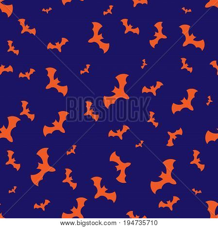 Halloween pattern with bats. Vector for design