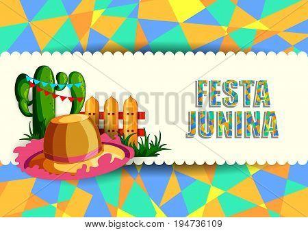 vector illustration of Festa Junina celebration background of Brazil and Portugal festival
