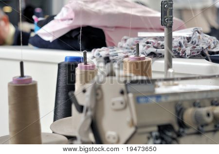 Industrial sewing machine close up - a series of TAILOR related images.