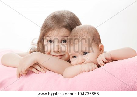 Two Little Girls Of The Sisters