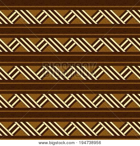 Antique Seamless Background Image Of Aboriginal Brown Square Geometry Cross Line