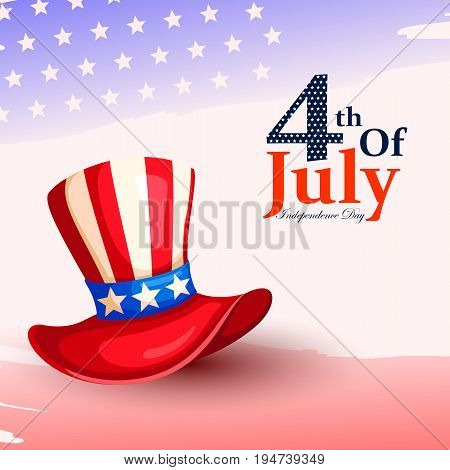 vector illustration of 4th of July celebration for Happy Independence Day of America