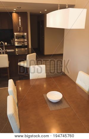 Empty dinning table at home