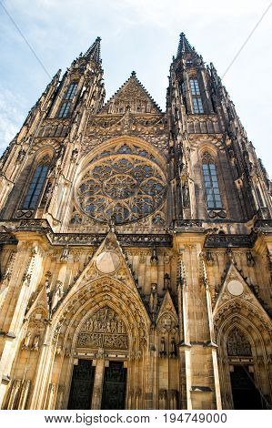 St. Vitus Cathedral In Prague, Czech Republic