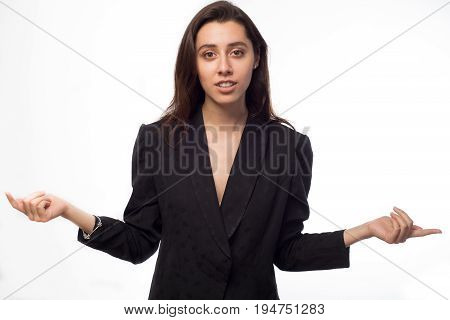 Young Businesswoman With Her Arms Outstretched