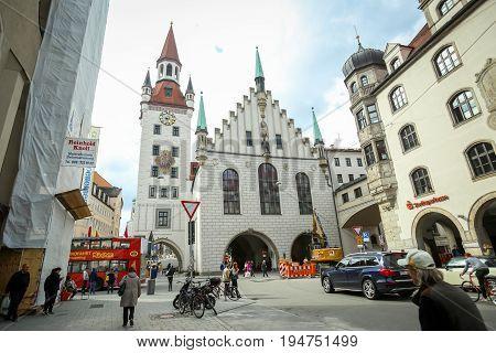 Old Town Hall At Marienplatz