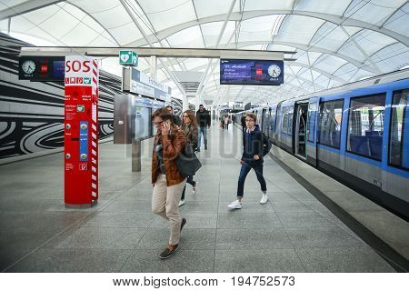 Subway System In Munich