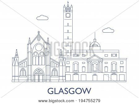 Glasgow. The Most Famous Buildings Of The City
