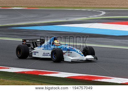Magny-cours, France, July 1, 2017 : Tyrrell-yamaha F1 In Exhibition. The First French Historic Grand