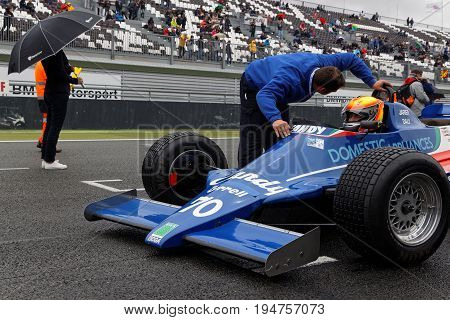 Magny-cours, France, July 1, 2017 : Tyrrell On The Grid. The First French Historic Grand Prix Takes