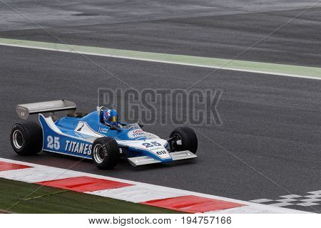 Magny-cours, France, July 1, 2017 : Ligier F1. The First French Historic Grand Prix Takes Place In M