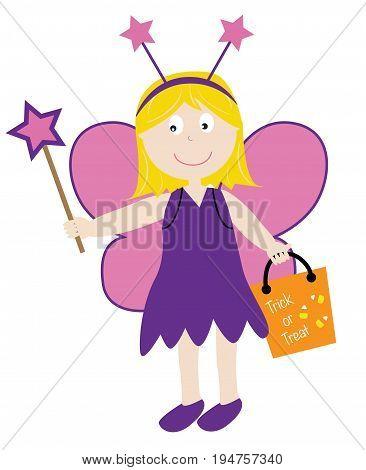 Happy Halloween Holiday Trick or Treat Fairy