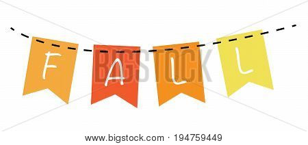 Fall Autumn Harvest Orange and Yellow Banner