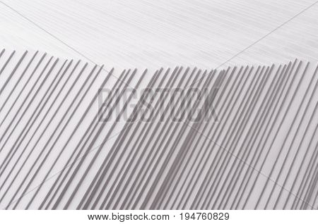 Gray striped stepped abstract texture with contrast border.