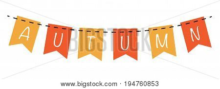 Autumn Fall Harvest Orange and Yellow Banner
