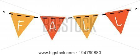 Fall Autumn Orange and Yellow Bunting Banner