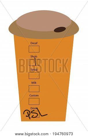 Pumpkin Pie Spice Latte To Go Cup