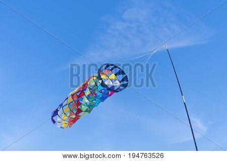 colorful kite on a kite festival in the netherlands