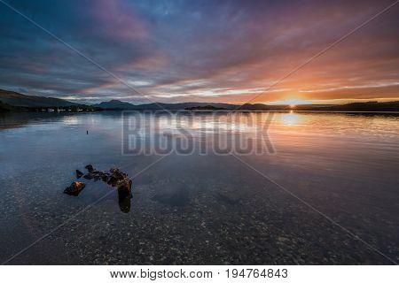 First Light on Loch Lomond with Ben Lomond in the background