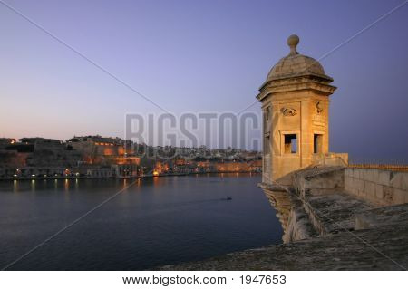 Vedette Overlooking Valleta - Dusk