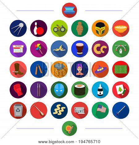 , transportation, business, history and other  icon in flat style.competition, ecology, nature icons in set collection