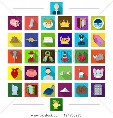 Industrial, history, medicine and other  icon in flat style., tourism, business, animal icons in set collection