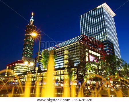 Night scene in Taipei Taiwan