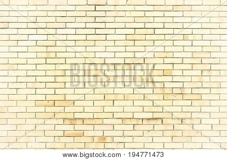 Stone texture background of brick wall texture surface with stone light yellow bricks. Closeup of stone bricks texture background. Stone bricks wall -texture background