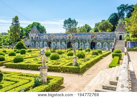 LISBON,PORTUGAL - MAY 17,2017 - National Monument - Garden of Palace Marquesses of Fronteira in Lisbon. Lisbon is the capital of Portugal.