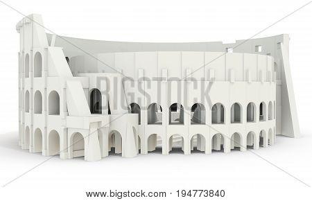 3D White Roman Colosseum