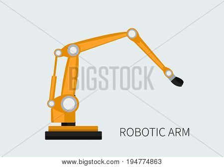 Robotic arm vector. Flat illustration isolated. -stock vector
