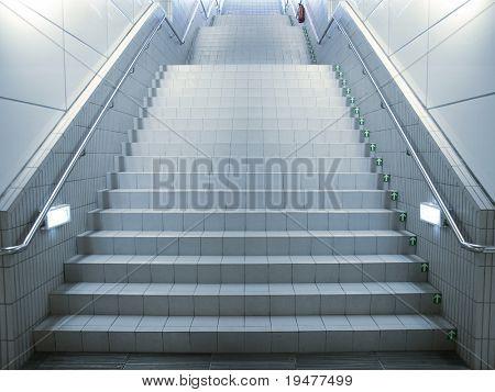Staircase in underground passage