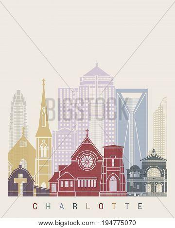 Charlotte V2 Skyline Poster