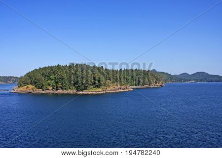Gulf Islands off Vancouver Island in Canada
