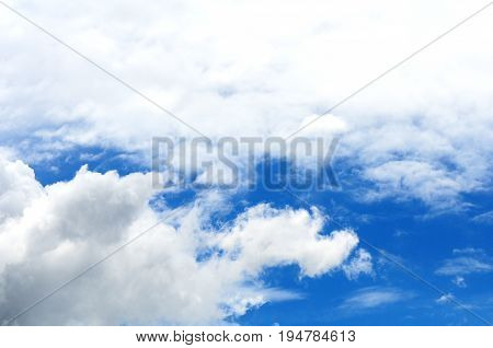 Blue Sky With White Clouds Background