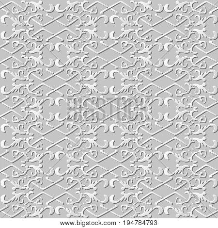 3D Paper Art Pattern Check Cross Spiral Chain